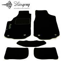 Fiat Croma 2005-2014 Комплект из 3-х ковриков ворсовый FORTUNA BLACK Черный в салон