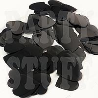 Конфетти сердечки 25 мм, черные, 50 г