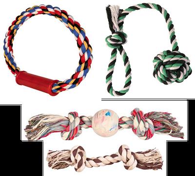 Канатные игрушки для собак