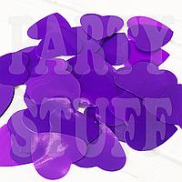 Конфетти сердечки 35 мм, фиолетовые, 50 г