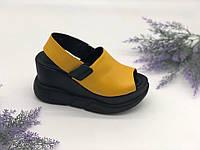 Босоножки на платформе Mario Muzi желтый 022-35 кожа 38(р)