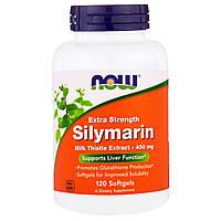 Силимарин, экстракт расторопши, 450 мг 120  капсул с жидкостью, Now Foods, Silymarin