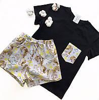 Пижама футболка и шорты S-M единорог