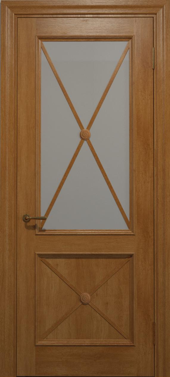 Двери CROSS C-012.S01, полотно, шпон, срощенный брус сосны