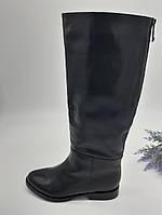 Сапоги женские Dali Fashion черный 26-16-30(92-16-30) кожа 37(р)