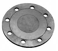 Фланець глухий плоский Ду125 Ру16, сталева заглушка фланцева ГОСТ 12836-67