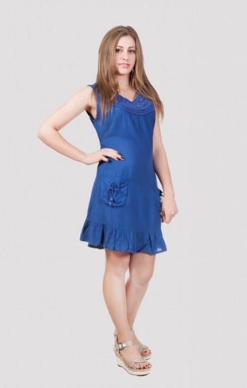 Молодежное  платье туника с карманами производитель Индия