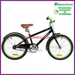 Детский велосипед Dorozhnik Arty 20 дюймов черно-салатный