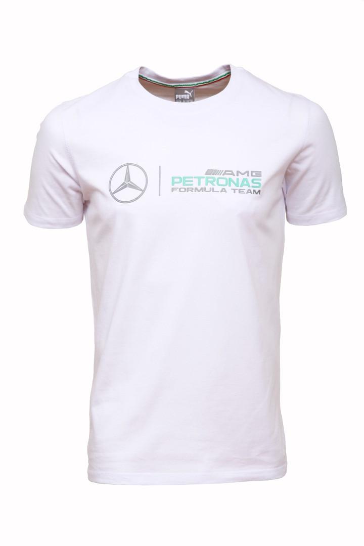 efdb28dc79bc8 Футболка мужская Пума Мерседес белая хлопок 100% (реплика) T-Shirt Puma  Merсedes White