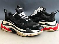 Черные женские кроссовки Balenciaga Triple S 37,38,39рр