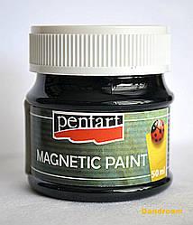 Краска с эффектом магнита, Черная, 50мл, Pentart