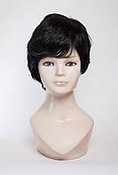 Натуральный парик №8,цвет черный натуральный
