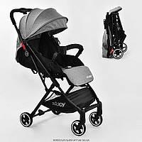 Коляска прогулочная детская С - 308 'JOY' (1) цвет СЕРЫЙ, футкавер, дождевик, съемный бампер