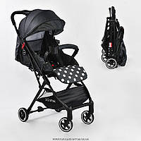 Коляска прогулочная детская С - 540 'JOY' (1) цвет ТЕМНО-СЕРЫЙ, футкавер, дождевик, съемный бампер