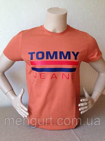 Футболка мужская молодежная tommy jeans Томми  Турция, фото 2