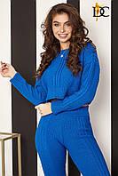 Спортивный костюм модный женский 2019 цвет: Синий, размер: S-L