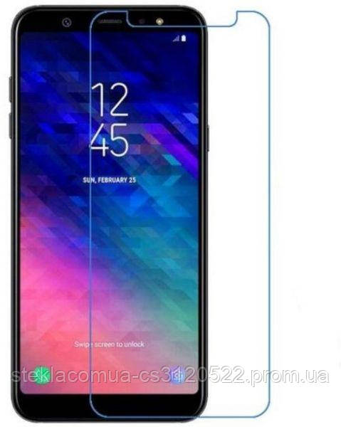 Защитное стекло 2.5D Samsung A6 Plus 2018