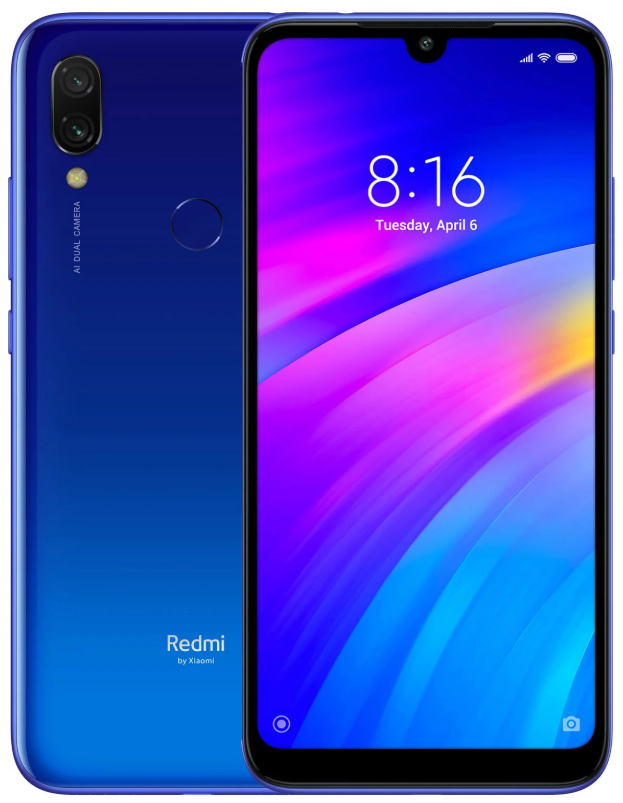 "Xiaomi Redmi 7 Blue 3/32 Gb, 6.26"", Snapdragon 632, 3G, 4G (Global)"