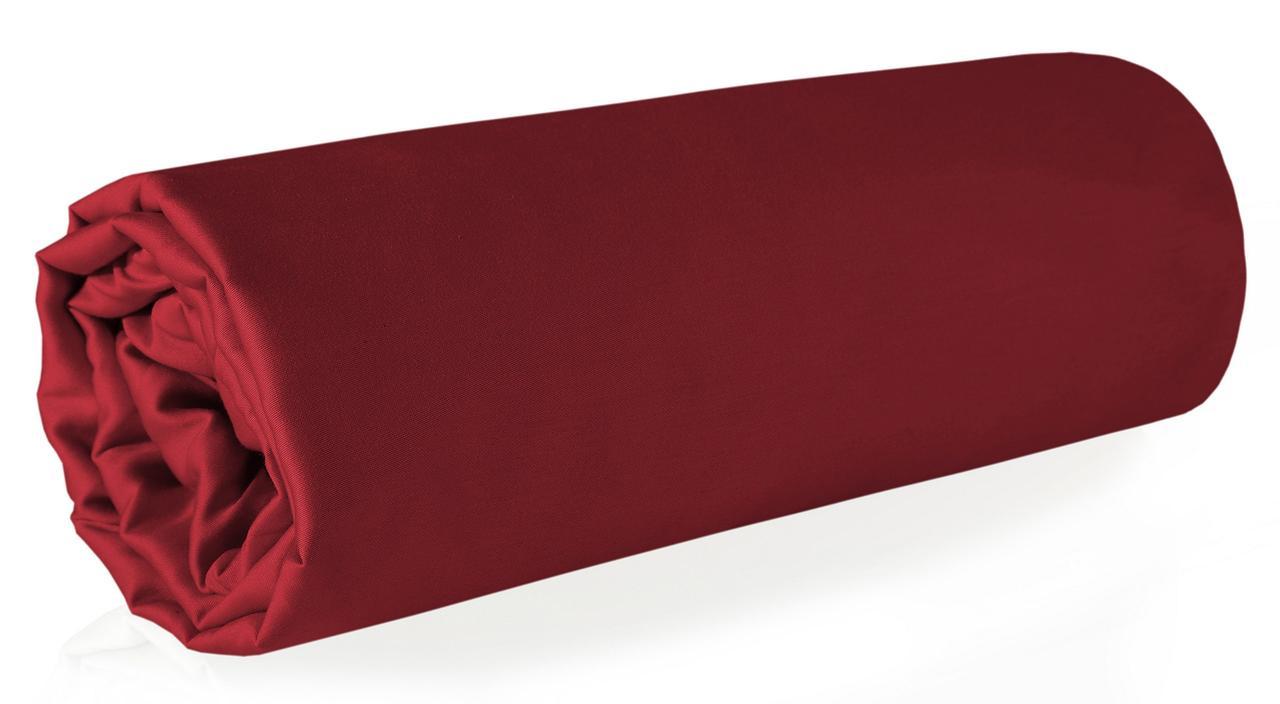 Простыня Хлопковая Мако-сатин Eurofirany 2746 160x210 см Красная