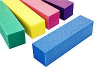 Бафик для ногтей,  4-х сторон, цветной 10шт/упаковка