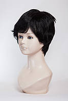Натуральный парик №8, цвет черный натуральный