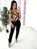 Комбинезон женский брючный стильный яркие принты Dl1493, фото 1