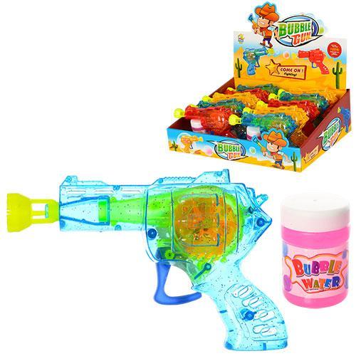 Мильні бульбашки QL929A пістолет, 10 шт. (3 кольори) в диспл.