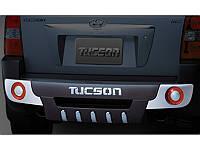 ABS Накладка на бампер задняя для Hyundai Tucson 2004-09