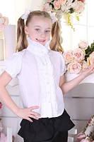 Школьная блуза для девочки с воротником-стойкой, фото 1