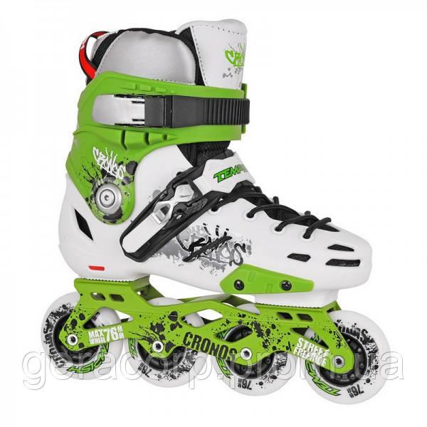 Фрискейт роликовые коньки Tempish Cronos зеленые
