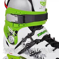 Фрискейт роликовые коньки Tempish Cronos зеленые, фото 3