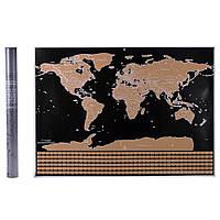 Скретч карта Мира в тубусе World Flags Edition (AS-2110)