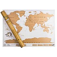 Скретч карта Мира в тубусе World Edition (SC-2087), фото 1