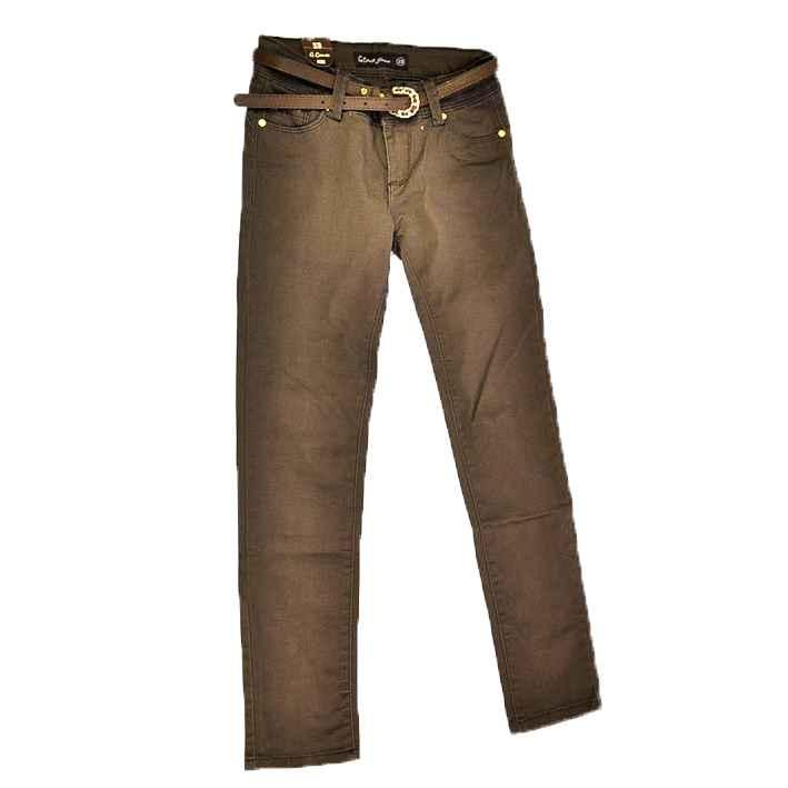 Детские прямые брюки шоколадного цвета