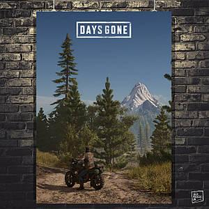Постер Days Gone, Жизнь после. Дикон Сейнт-Джон на дороге. Размер 60x43см (A2). Глянцевая бумага