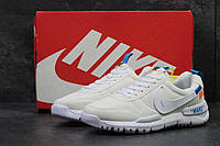 Кроссовки мужские бежевые с синим Nike off White Mars 6178