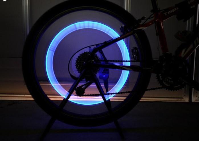 LED подсветка на колесо велосипеда, 1 шт с батарейками
