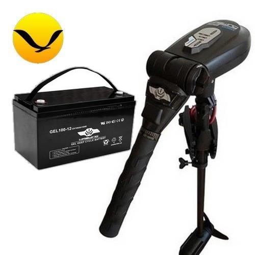 Электромотор для лодки Haswing Protruar 2.0 +120a/h GEL аккумулятор Комплект; (Лодочный электромотор Хасвинг Протруар 2.0);