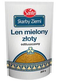 Лен молотый обезжиренный Sante, 200г