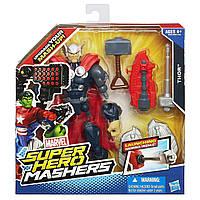 Разборная фигурка Тора со стреляющим оружием Thor Hammer Messile, Mashers, Hasbro - 143399