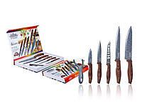 Набор ножей из нержавеющей стали с гранитным покрытием 6 пр Peterhof PH-22425