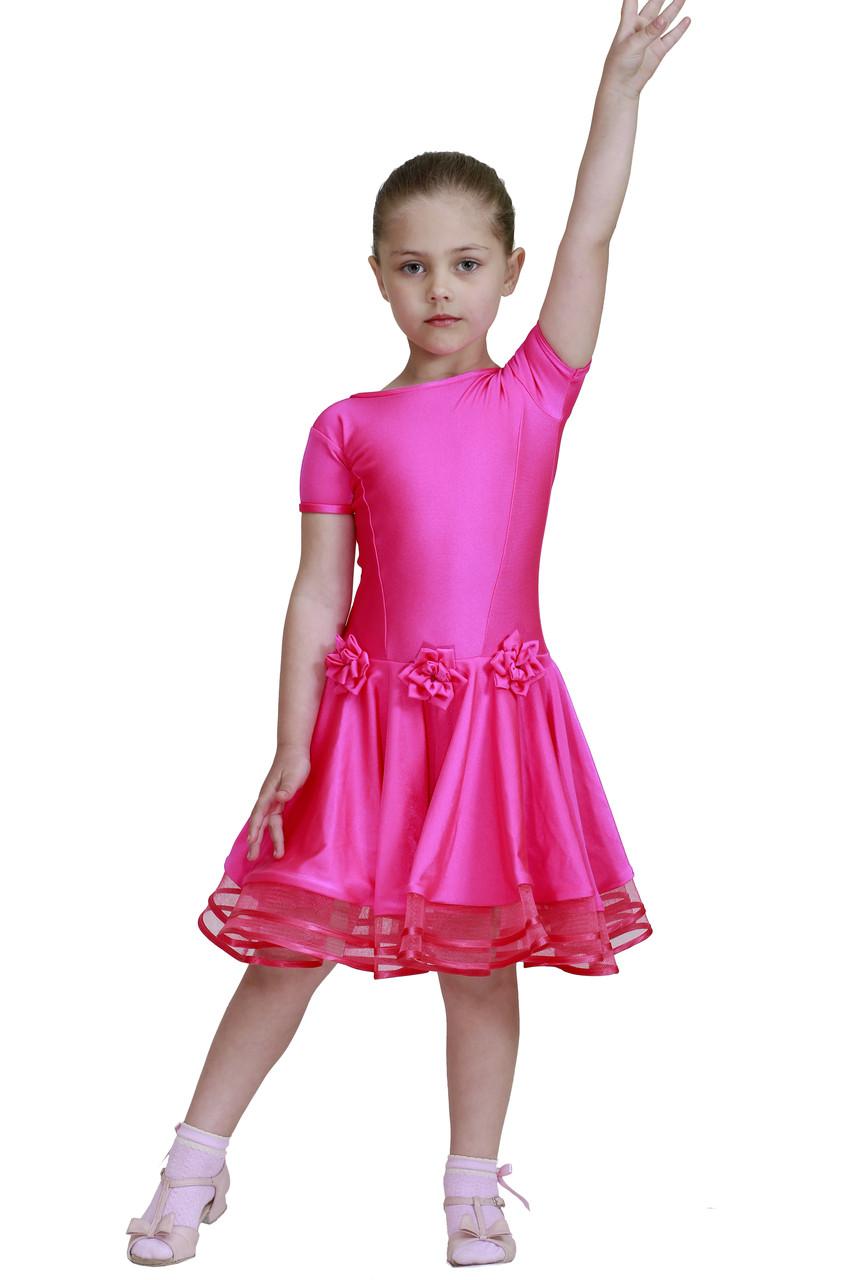 Рейтинговое платье ( Бейсик ) для бальных танцев Sevenstore 526 Малина