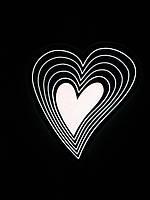 Подсветка автомобильная сердце неоновое 12V 16 режимов свечения, фото 1
