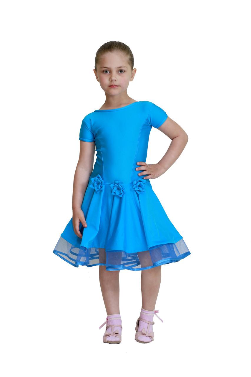 3fd5619fbbf Платье для танцев голубое  продажа