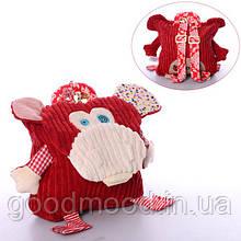 Рюкзак WLTH8052S мавпочка, 25-21-7см, застібка на липучці, в кульку, 28-32-2см
