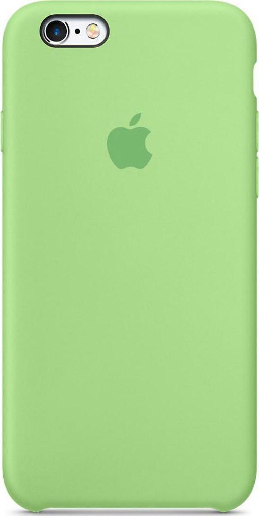 Чехол накладка SILICONE CASE на iPhone 7 REPLICA зеленый.