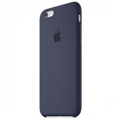 Чехол накладка SILICONE CASE на iPhone 7 REPLICA темно-синий.