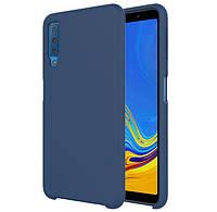 Силиконовый чехол Epik Deen Silicone Case для Samsung A750 Galaxy A7 (2018) Темно-синий