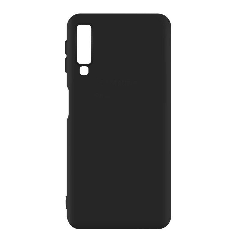 Силиконовый чехол Epik Deen Silicone Case для Samsung A750 Galaxy A7 (2018) Черный