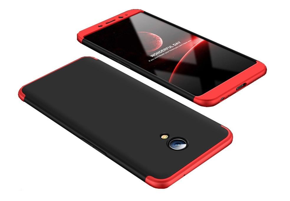 Пластиковая накладка GKK LikGus 360 градусов для Meizu M6s Черный /Красный